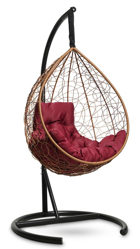Фото №5 Подвесное кресло-кокон SEVILLA COMFORT горячий шоколад + каркас