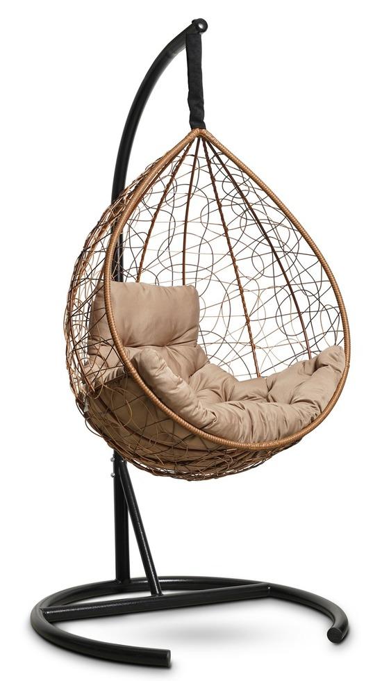 Фото №6 Подвесное кресло-кокон SEVILLA COMFORT горячий шоколад + каркас