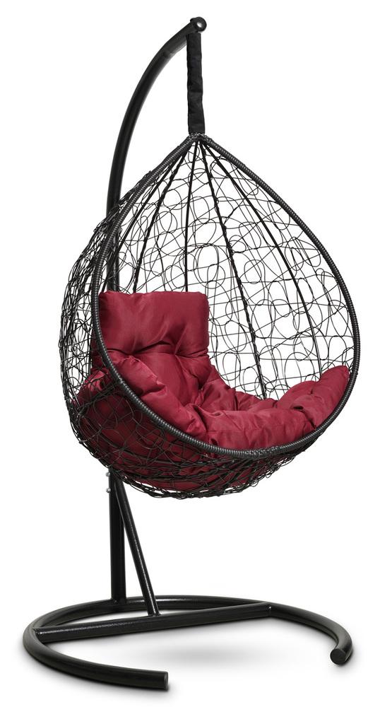 Фото №3 Подвесное кресло-кокон SEVILLA COMFORT черное + каркас