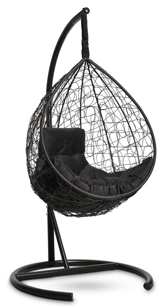 Фото №5 Подвесное кресло-кокон SEVILLA COMFORT черное + каркас