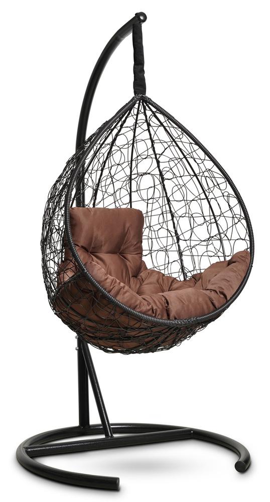 Фото №6 Подвесное кресло-кокон SEVILLA COMFORT черное + каркас