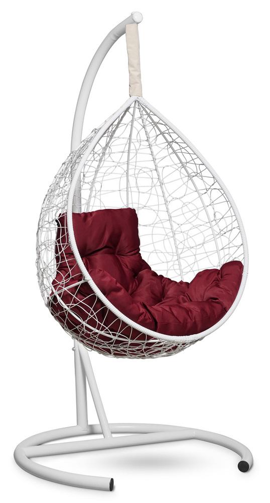 Подвесное кресло-кокон SEVILLA COMFORT белое + каркас