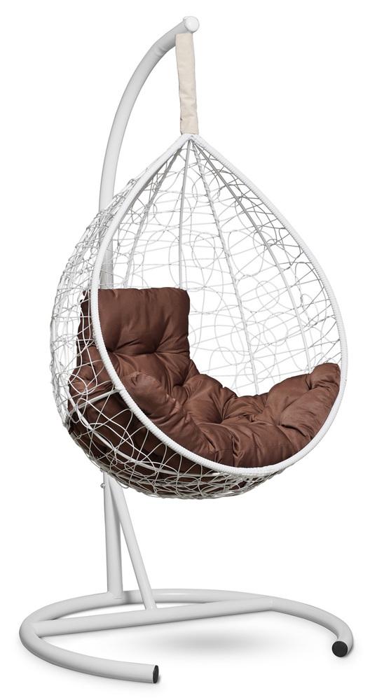 Фото №6 Подвесное кресло-кокон SEVILLA COMFORT белое + каркас