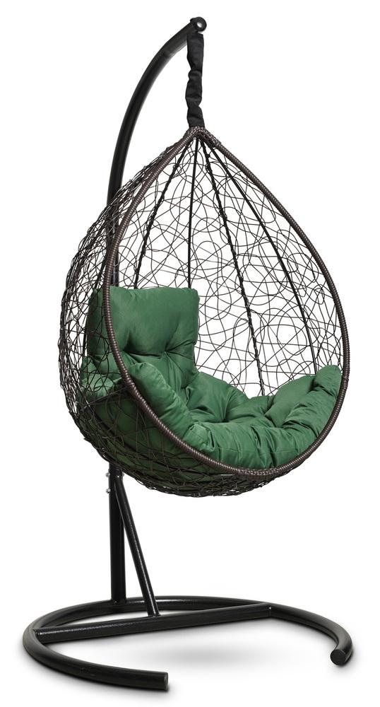 Фото №3 Подвесное кресло-кокон SEVILLA COMFORT коричневое + каркас