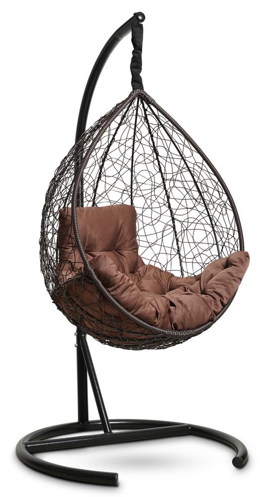 Фото №4 Подвесное кресло-кокон SEVILLA COMFORT коричневое + каркас