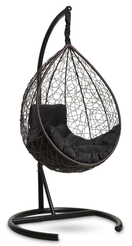 Фото №5 Подвесное кресло-кокон SEVILLA COMFORT коричневое + каркас