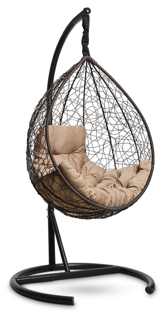 фото Подвесное кресло-кокон SEVILLA COMFORT коричневое + каркас