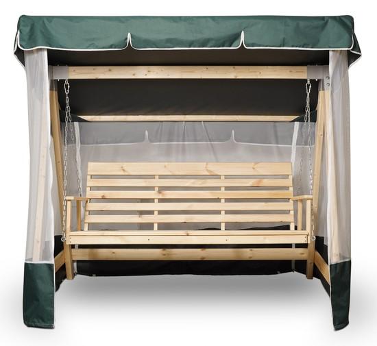 Фото №3 Тент-крыша + москитная сетка для деревянных качелей