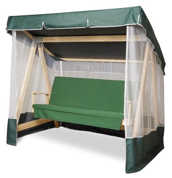 Фото №6 Тент-крыша + москитная сетка для деревянных качелей
