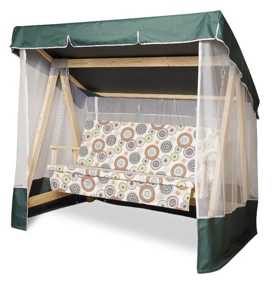 Фото №11 Тент-крыша + москитная сетка для деревянных качелей
