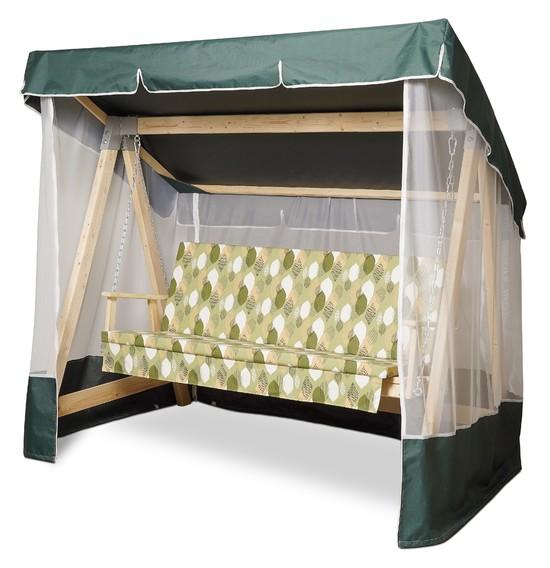 Фото №8 Тент-крыша + москитная сетка для деревянных качелей