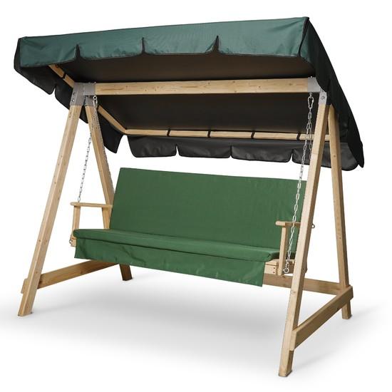 Фото №2 Матрас Зеленый для деревянных качелей СЕЛЕНА