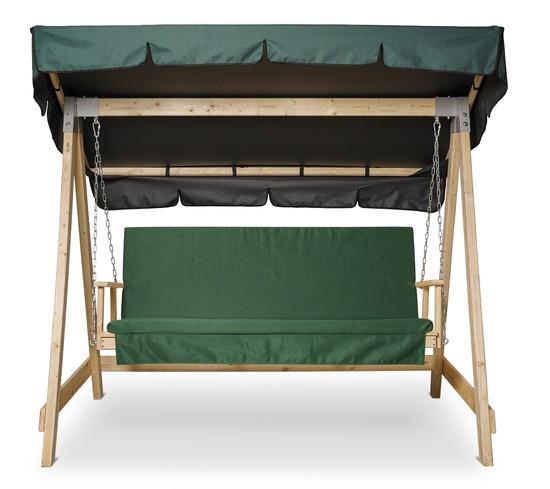 Фото №3 Матрас Зеленый для деревянных качелей СЕЛЕНА
