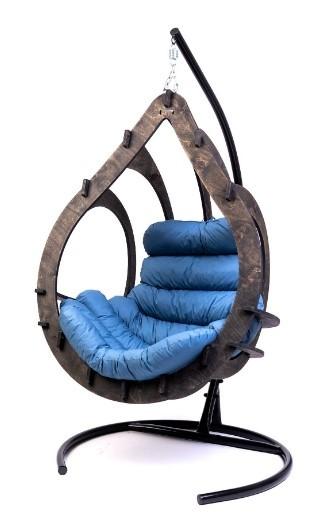 Фото №9 Подвесное кресло-кокон SEMERA цвет Эбеновое дерево