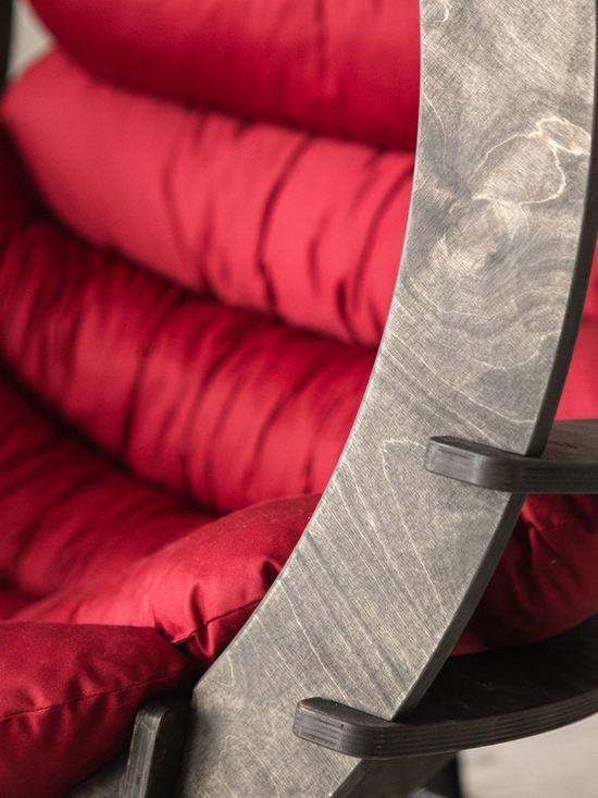 Фото №10 Подвесное кресло-кокон SEMERA цвет Эбеновое дерево