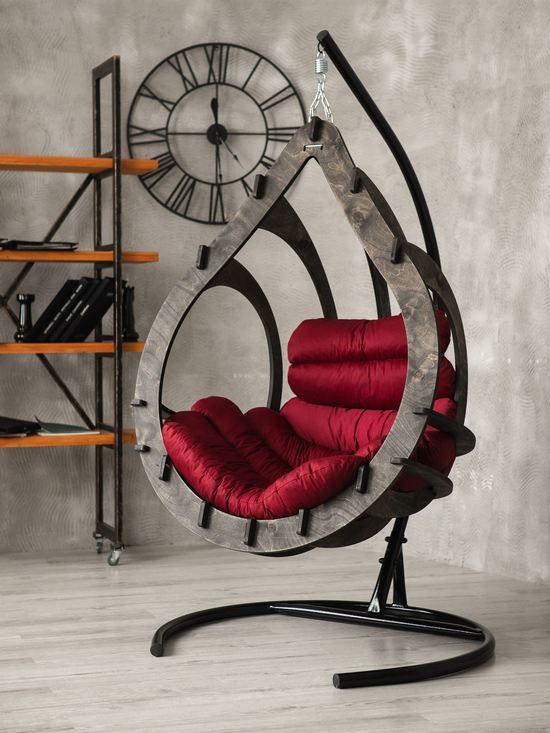 Фото №2 Подвесное кресло-кокон SEMERA цвет Эбеновое дерево