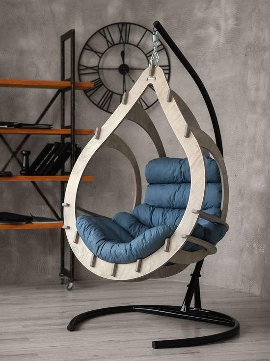 Подвесное кресло-кокон SEMERA цвет Туманый лес