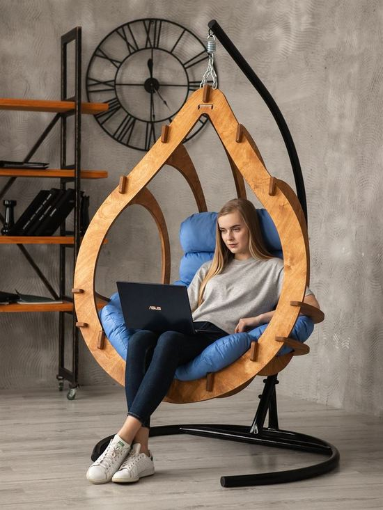 Фото №5 Подвесное кресло-кокон SEMERA  цвет Тик