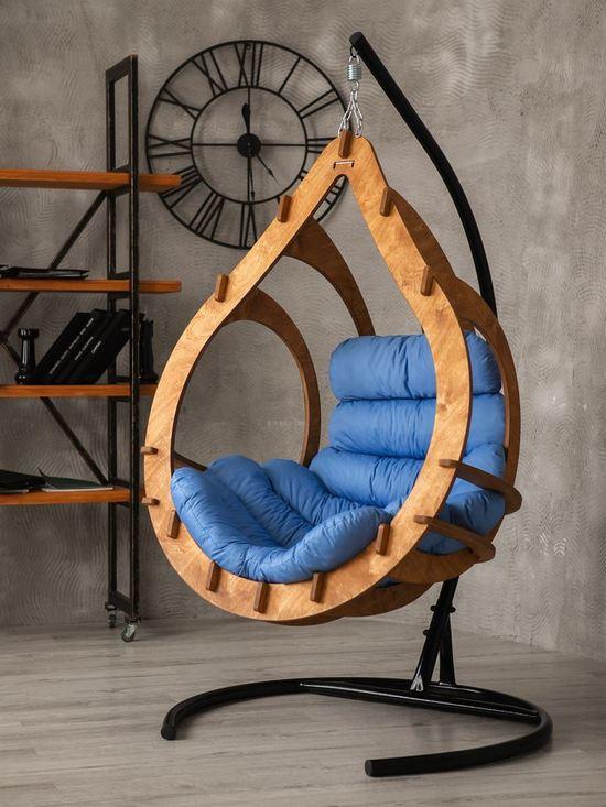 Фото №3 Подвесное кресло-кокон SEMERA  цвет Тик