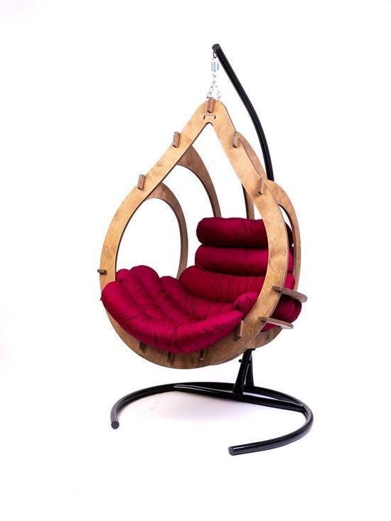 Фото №11 Подвесное кресло-кокон SEMERA цвет Орех