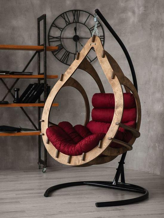Подвесное кресло-кокон SEMERA цвет Орех