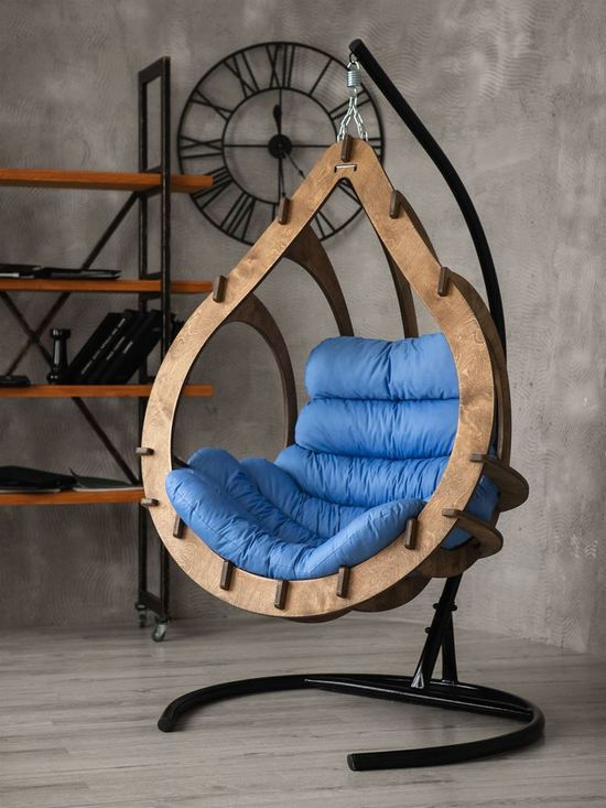 Фото №4 Подвесное кресло-кокон SEMERA цвет Орех