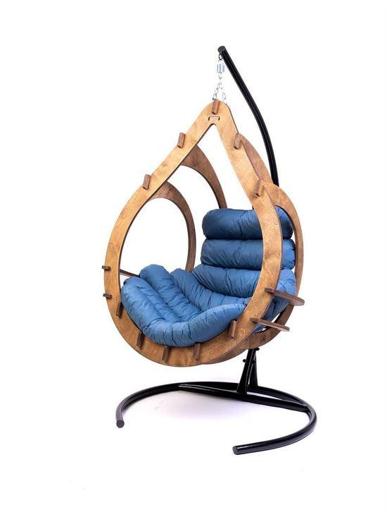 Фото №6 Подвесное кресло-кокон SEMERA цвет Орех
