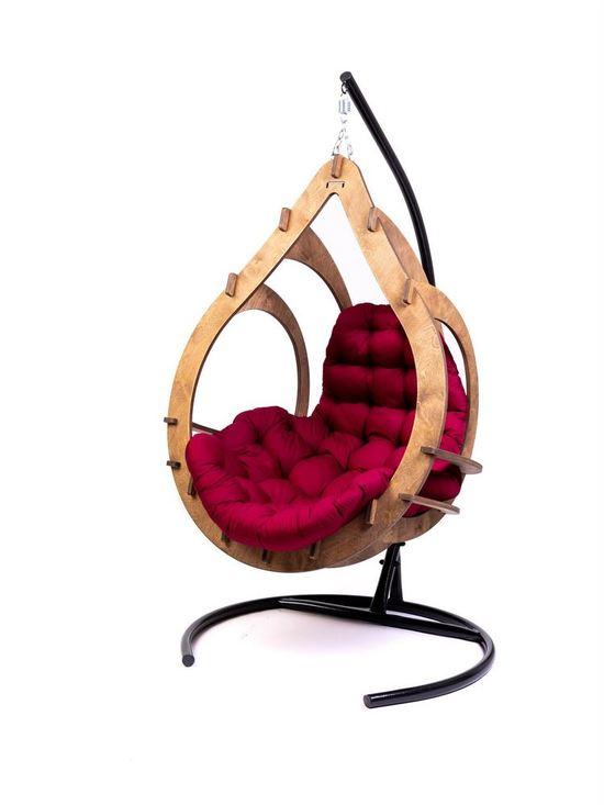 Фото №7 Подвесное кресло-кокон SEMERA цвет Орех