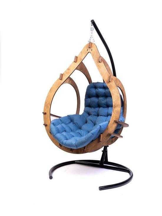 Фото №9 Подвесное кресло-кокон SEMERA цвет Орех
