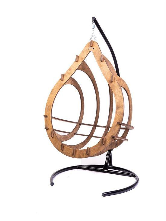 Фото №12 Подвесное кресло-кокон SEMERA цвет Орех