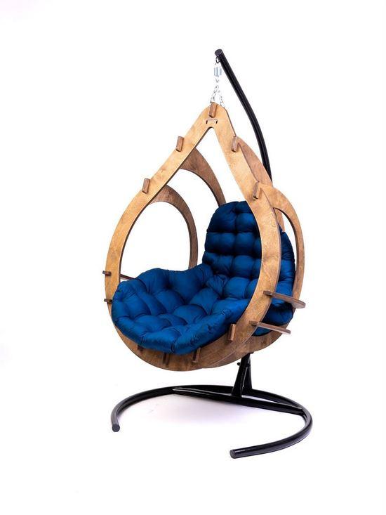 Фото №10 Подвесное кресло-кокон SEMERA цвет Орех