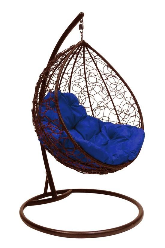 Фото №7 Подвесное кресло-кокон  КАПЛЯ РОТАНГ коричневое + каркас