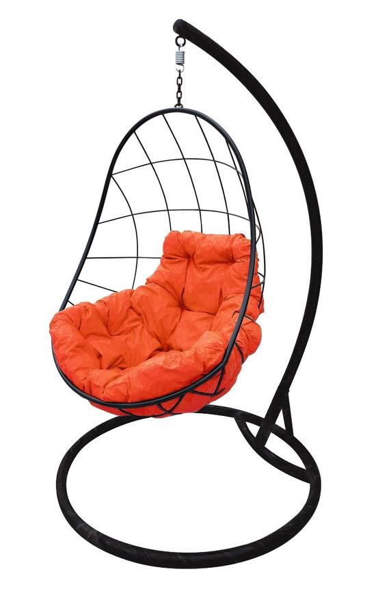 Фото №5 Подвесное кресло-кокон ОВАЛ черное + каркас