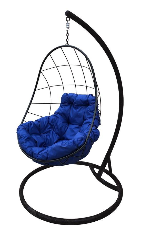 Фото №6 Подвесное кресло-кокон ОВАЛ черное + каркас