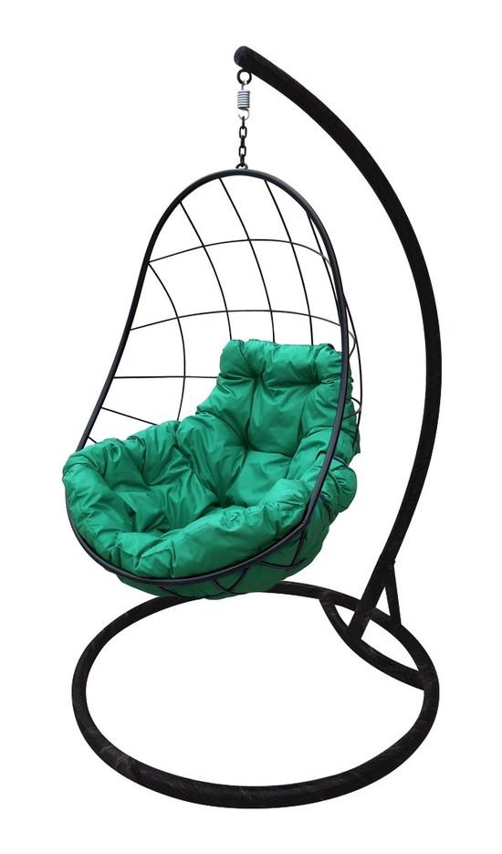 Фото №7 Подвесное кресло-кокон ОВАЛ черное + каркас