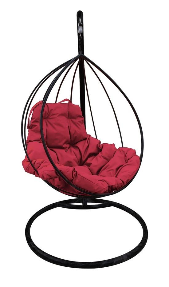 Фото №3 Подвесное кресло-кокон  КАПЛЯ черное + каркас