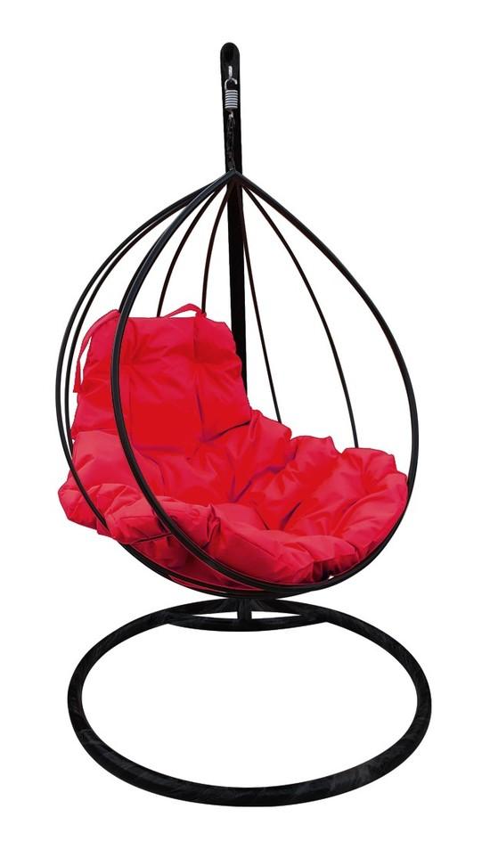 Фото №4 Подвесное кресло-кокон  КАПЛЯ черное + каркас