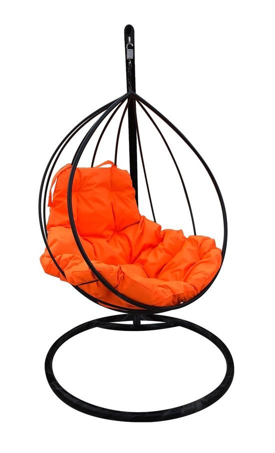 Фото №5 Подвесное кресло-кокон  КАПЛЯ черное + каркас