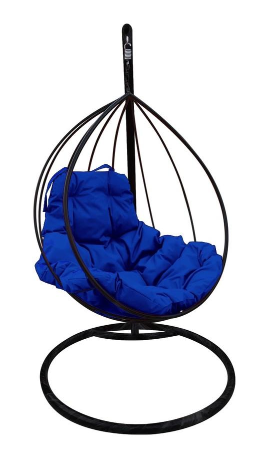 Фото №6 Подвесное кресло-кокон  КАПЛЯ черное + каркас