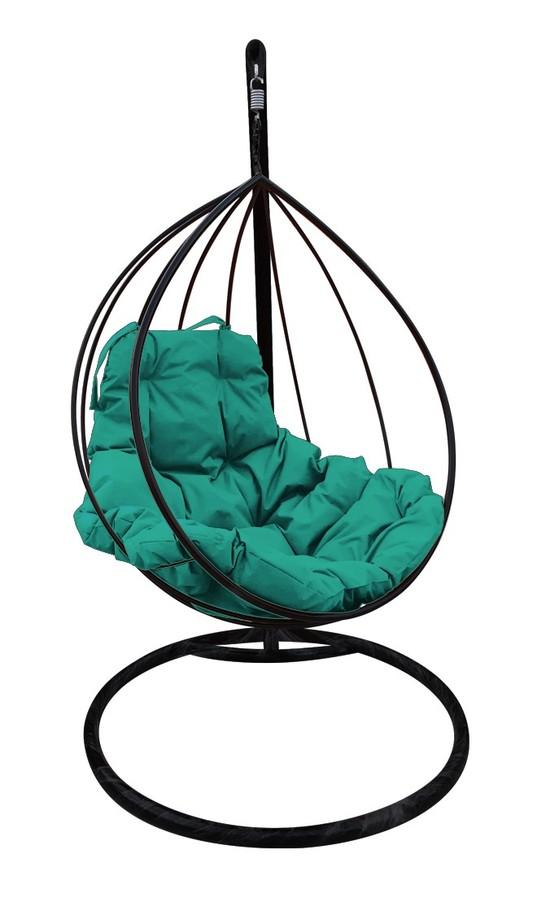 Фото №7 Подвесное кресло-кокон  КАПЛЯ черное + каркас