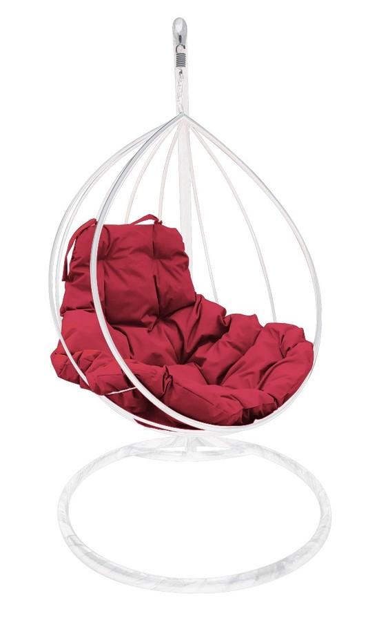 Фото №3 Подвесное кресло-кокон  КАПЛЯ белое + каркас