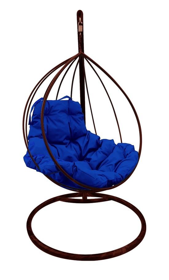 Фото №4 Подвесное кресло-кокон  КАПЛЯ коричневое + каркас