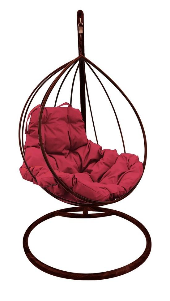 Фото №2 Подвесное кресло-кокон  КАПЛЯ коричневое + каркас