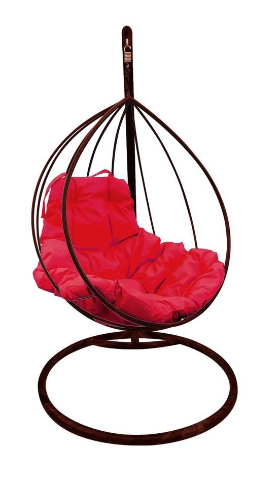Фото №6 Подвесное кресло-кокон  КАПЛЯ коричневое + каркас