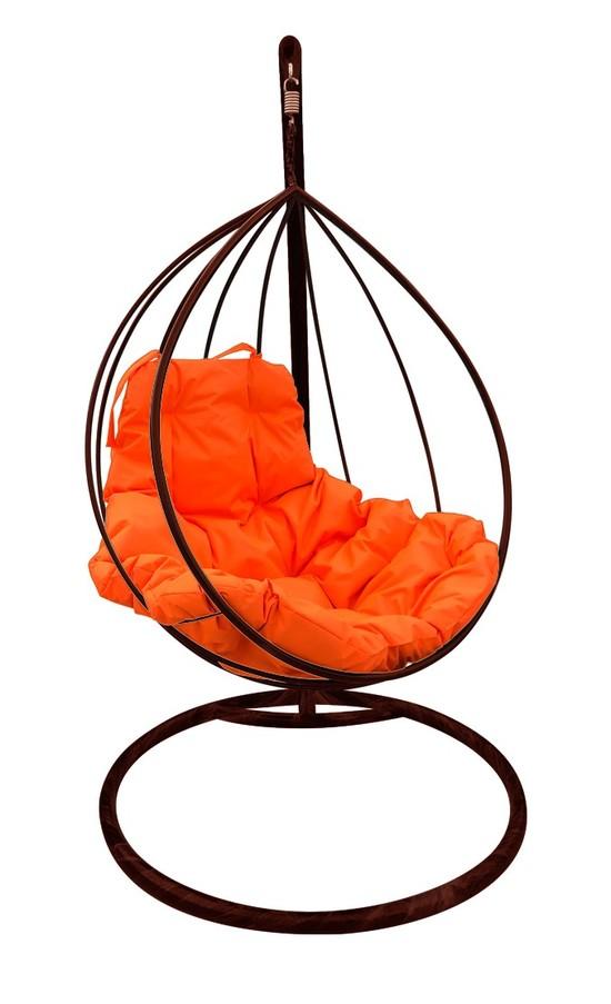 Фото №7 Подвесное кресло-кокон  КАПЛЯ коричневое + каркас