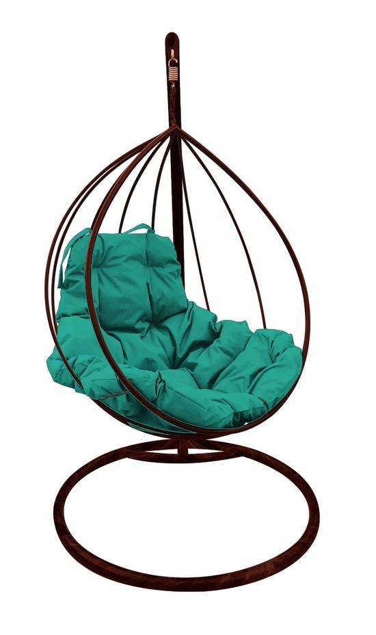 Фото №3 Подвесное кресло-кокон  КАПЛЯ коричневое + каркас