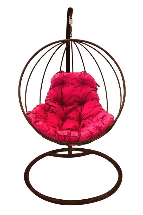 Фото №5 Подвесное кресло-кокон КРУГЛОЕ коричневое + каркас