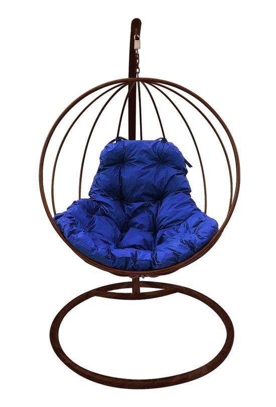 Фото №7 Подвесное кресло-кокон КРУГЛОЕ коричневое + каркас