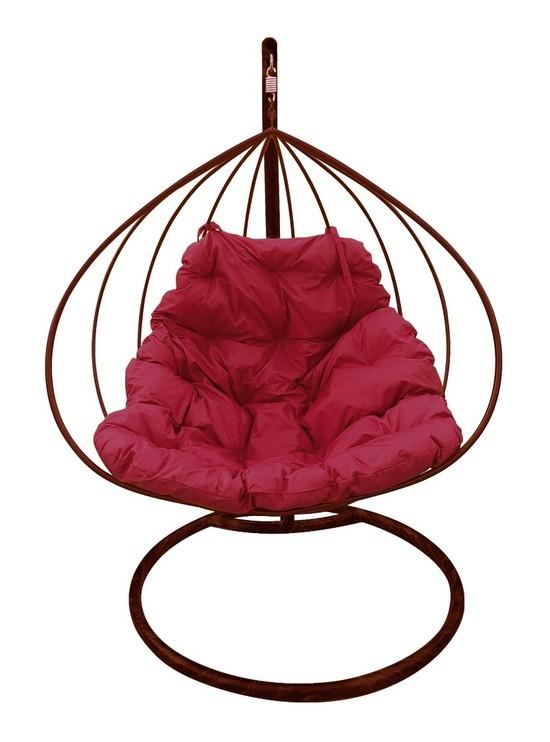 Фото №4 Подвесное кресло-кокон ДЛЯ ДВОИХ коричневое + каркас