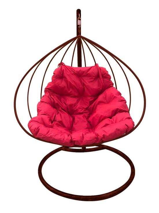 Фото №5 Подвесное кресло-кокон ДЛЯ ДВОИХ коричневое + каркас